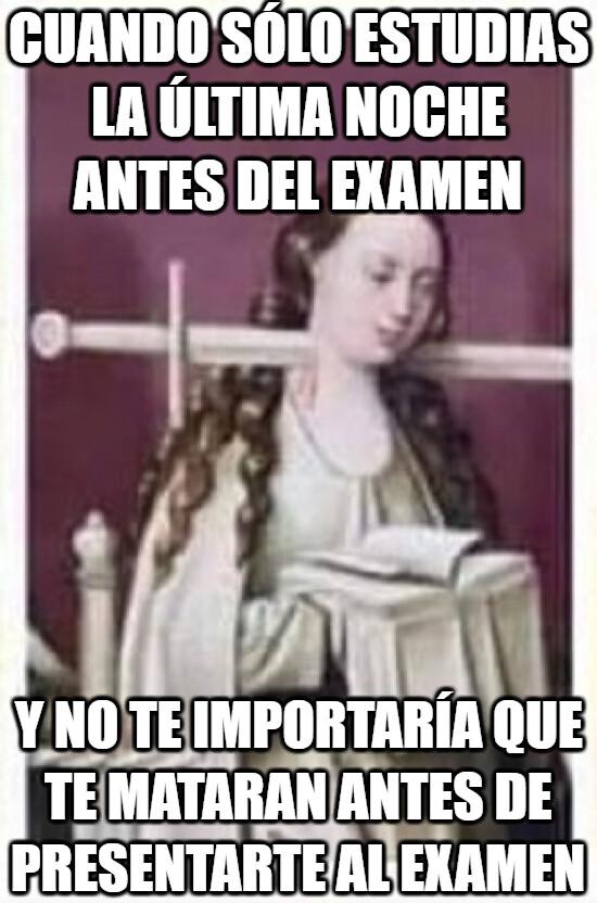 Meme_otros - Cuando te coge el toro y no te da tiempo estudiar para el examen y no te importaría que te mataran.