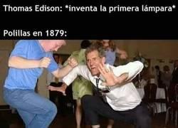 Enlace a Edison es un Dios para las polillas