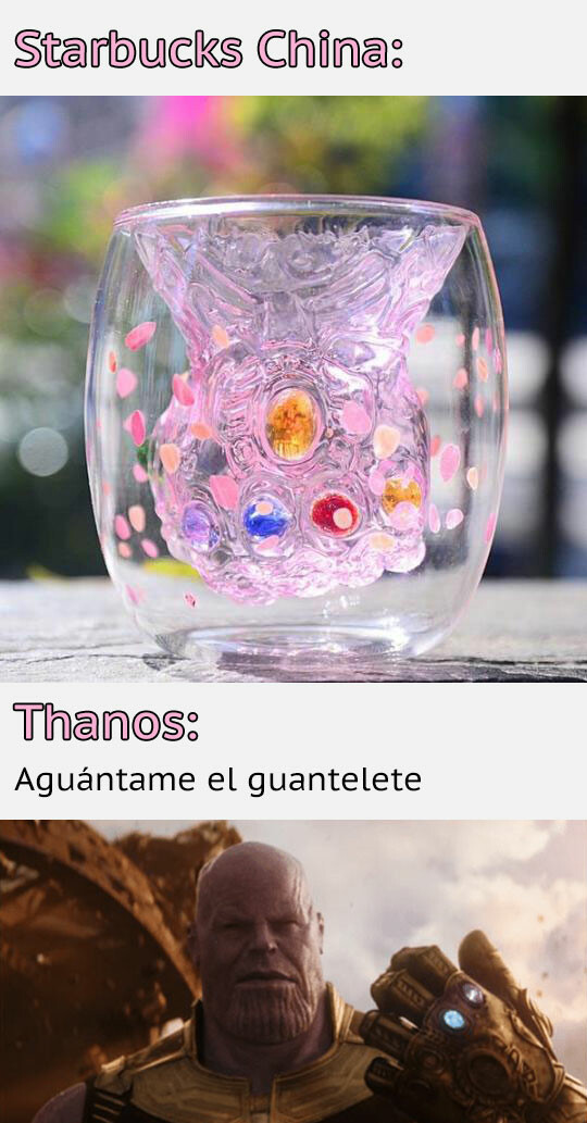 china,guantelete,starbucks,thanos,vaso,vengadores