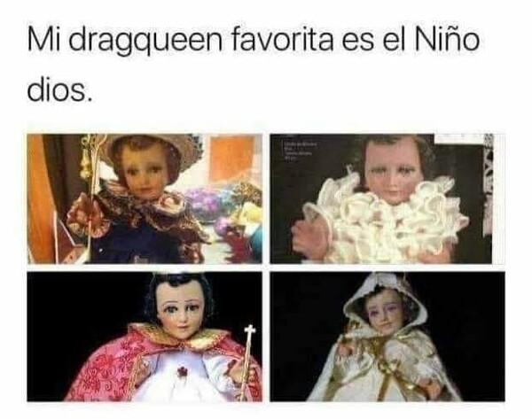 drag queen,jesus,niño dios