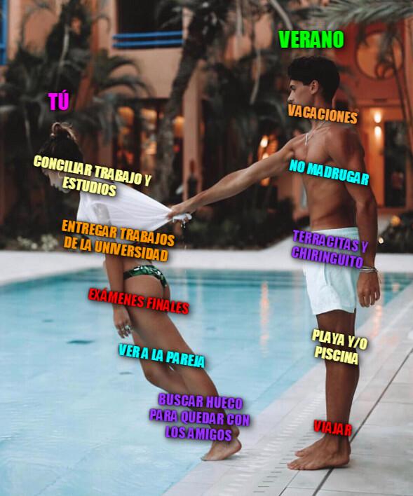 Meme_otros - ¡Aguantad estudiantes y currantes! ya queda muy poco para el verano...