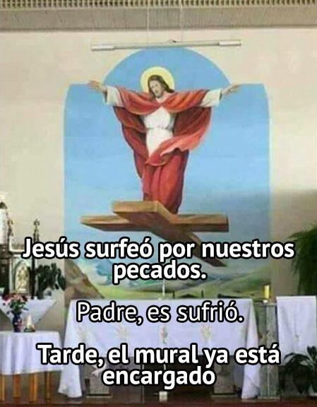 cruz,iglesia,jesus,mural,pintura,religioso,surfear