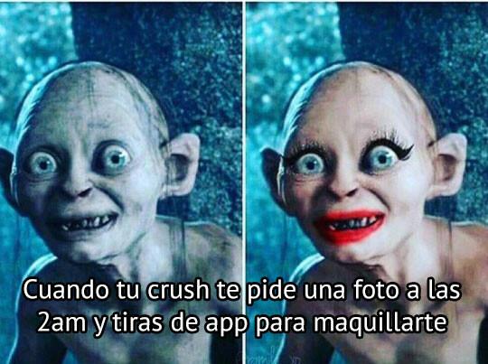 Meme_otros - Cuando ya te has desmaquillado y te piden una foto