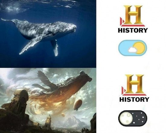 Meme_otros - Canal historia, modo día vs modo noche