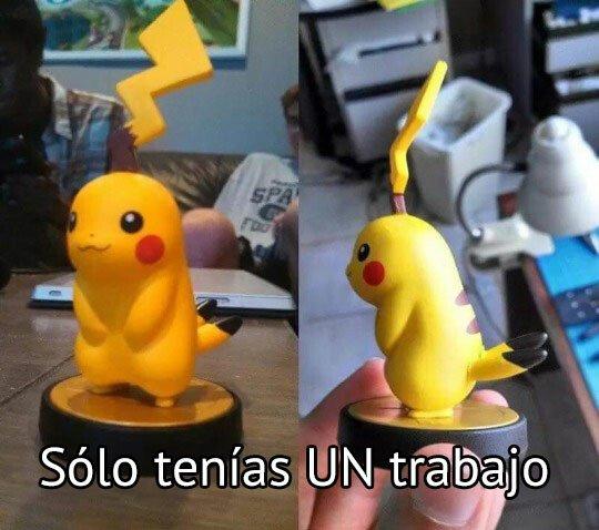 Meme_otros - Inútil nivel: Pikachu Chernobyl