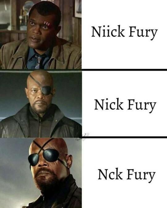 Meme_otros - Las evoluciones de Nick Fury