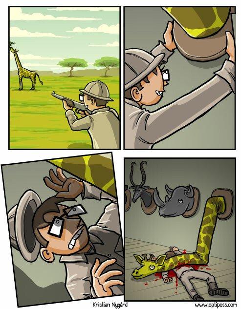 cazador,cuello,jirafa,karma,trofeo