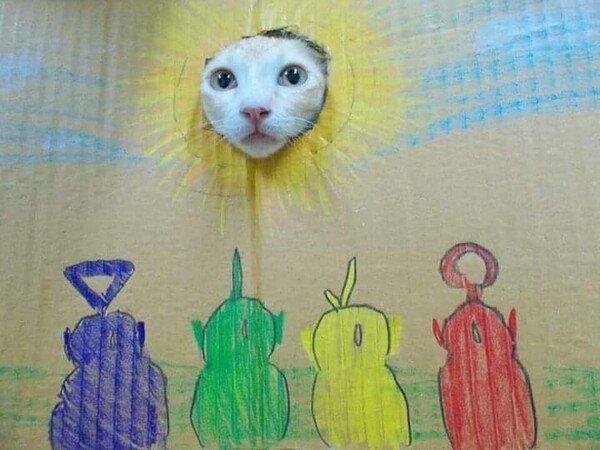 Meme_otros - Los teletubbies son fachas porque le pusieron cara al sol