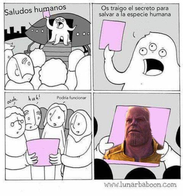 Otros - La solución es el maltusianismo de Thanos