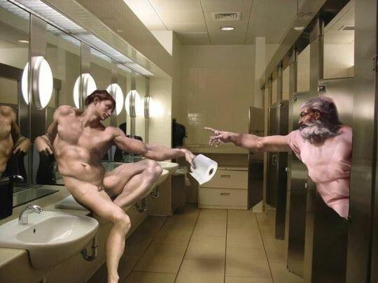 Meme_otros - ¿Dios nos creó para poder limpiarse el culo?
