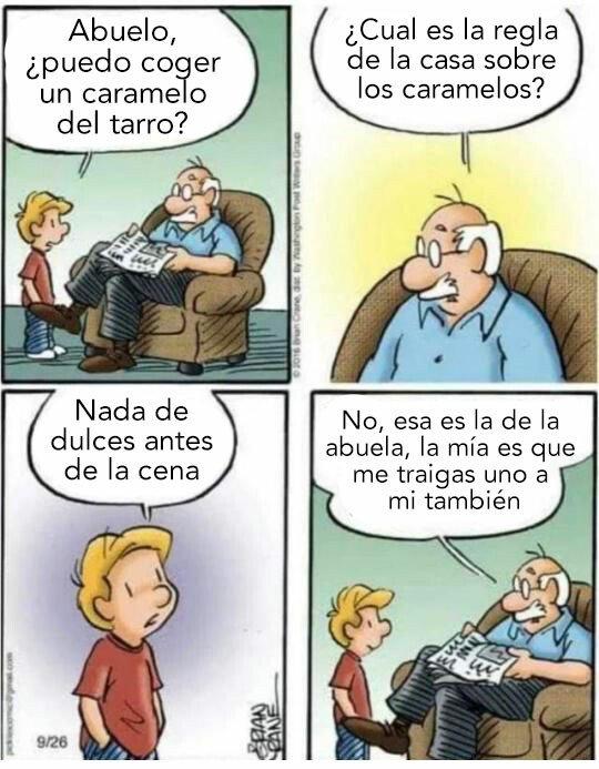 Otros - Las abuelas son seres de luz, pero los abuelos...