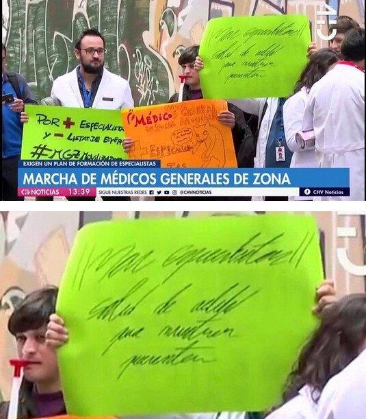 Meme_otros - 'Si no le gusta nuestra protesta tómese un ibuprofeno cada 8h'