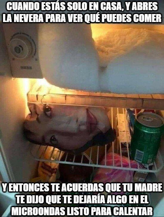 Meme_otros - Ese momento oportuno el acordarse de mamá cuando hay ganas de comer y no está ella...