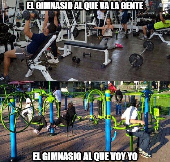 Meme_otros - Tipos de gimnasio, ¿a cuál vas tú? si es que vas a alguno, claro...