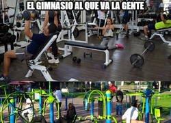 Enlace a Tipos de gimnasio, ¿a cuál vas tú? si es que vas a alguno, claro...