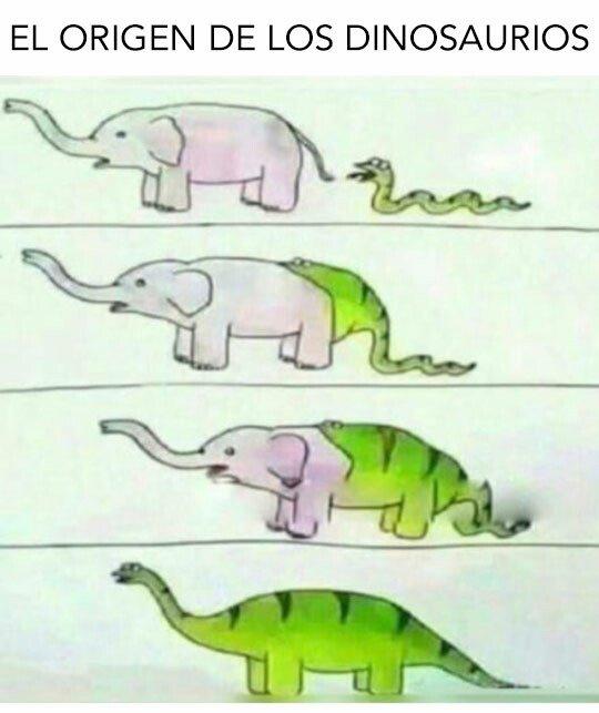 Meme_otros - El origen de los dinosaurios