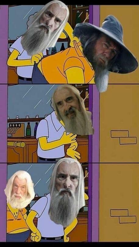 Meme_otros - ¿Me echabas de menos Saruman?