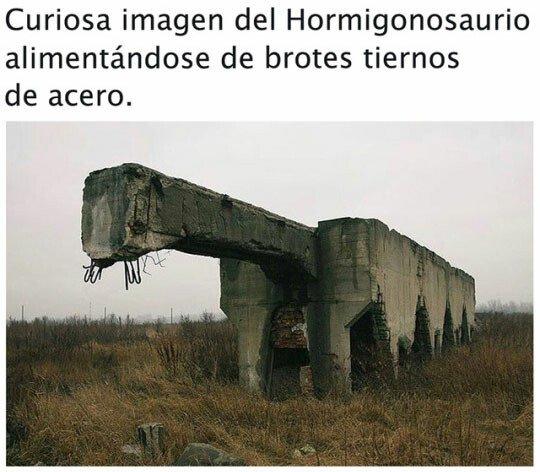 Meme_otros - El hormigonosaurio