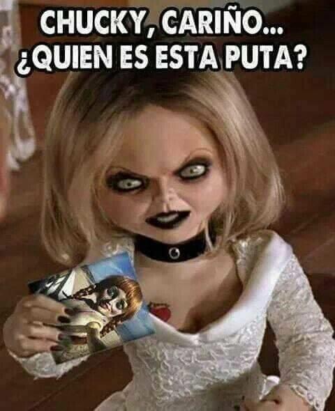Meme_otros - Hasta Chucky puede jugar a dos bandas