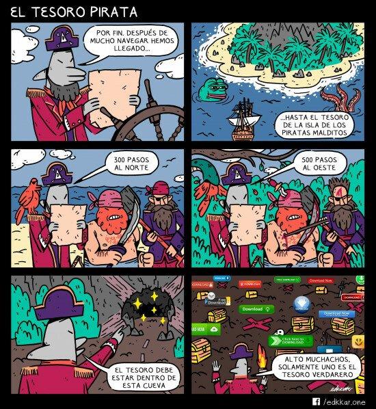 Otros - El tesoro pirata, en la bahía del pirata