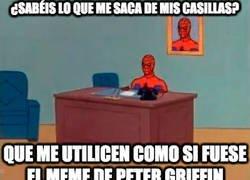 Enlace a Spiderman haciendo el trabajo de Peter Griffin