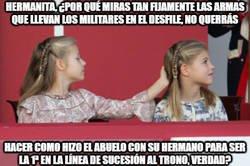 Enlace a Yo que tú, princesa Leonor, me andaba con mucho cuidado con tu hermana Sofía...