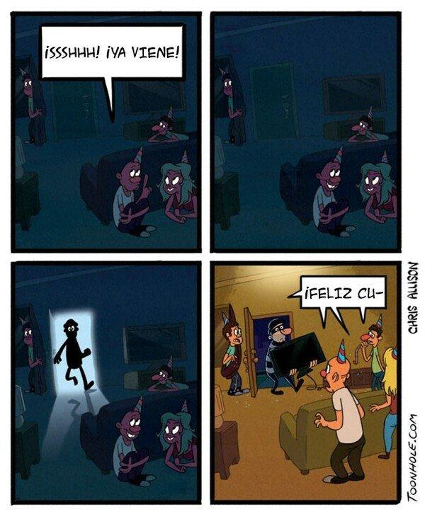 Meme_otros - Cuando te roban algo más que la posibilidad de dar una sorpresa