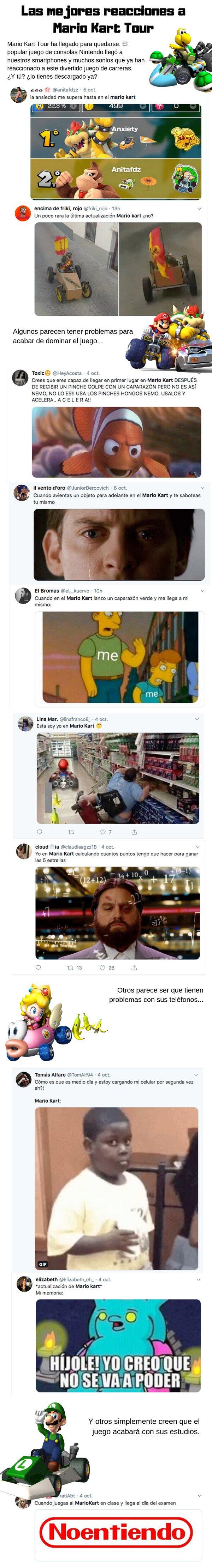 Meme_otros - Las primeras y mejores reacciones a Mario Kart Tour