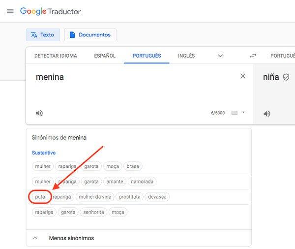 A_nadie_le_importa - Hoy he descubierto que para Google Translate, niña y p*** son sinónimos