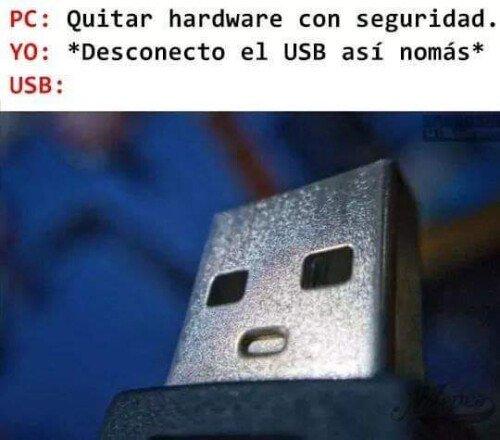 Otros - La cara del USB es épica
