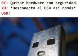 Enlace a La cara del USB es épica