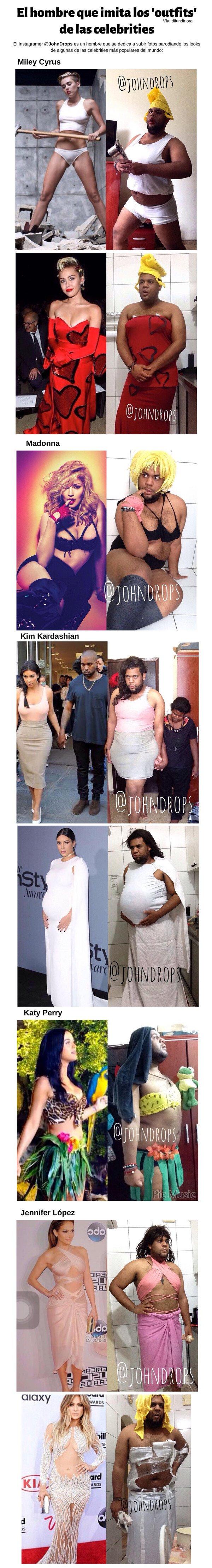 Meme_otros - El hombre que imita que los 'outfits' de las celebrities