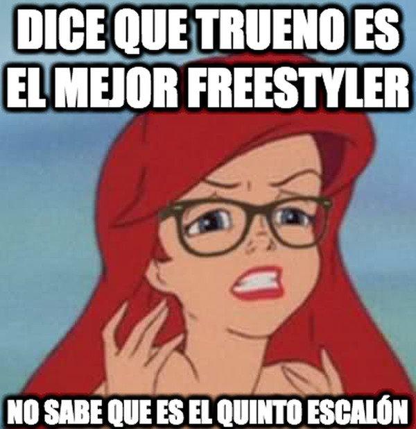 Ariel_hipster - Dice que Trueno es el mejor freestyler