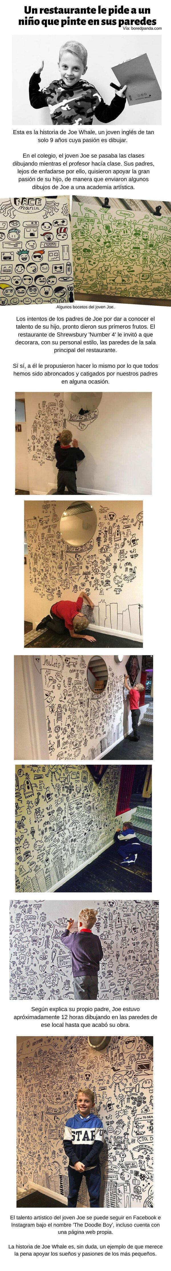 Meme_otros - Un restaurante le pide a un niño que pinte en sus paredes