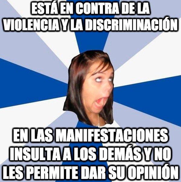 Amiga_facebook_molesta - Típico de los manifestantes
