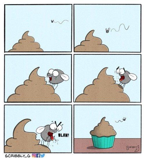 Meme_otros - Malditos cupcakes con forma de caca