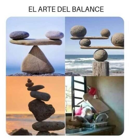 arte,balance,equilibrio,fregar,platos