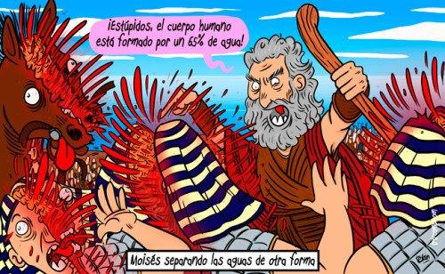 Otros - Moisés separando las aguas, la versión que no nos han querido contar