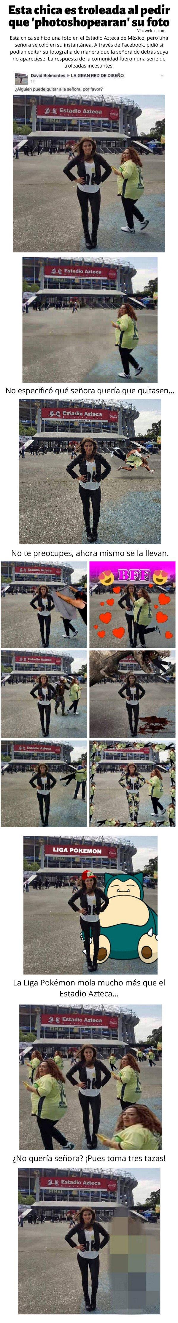 Meme_otros - Esta chica es troleada al pedir que 'photoshopearan' su foto