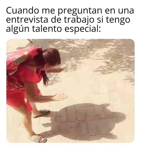 Meme_otros - Nadie hace la sombra de una tortuga como yo