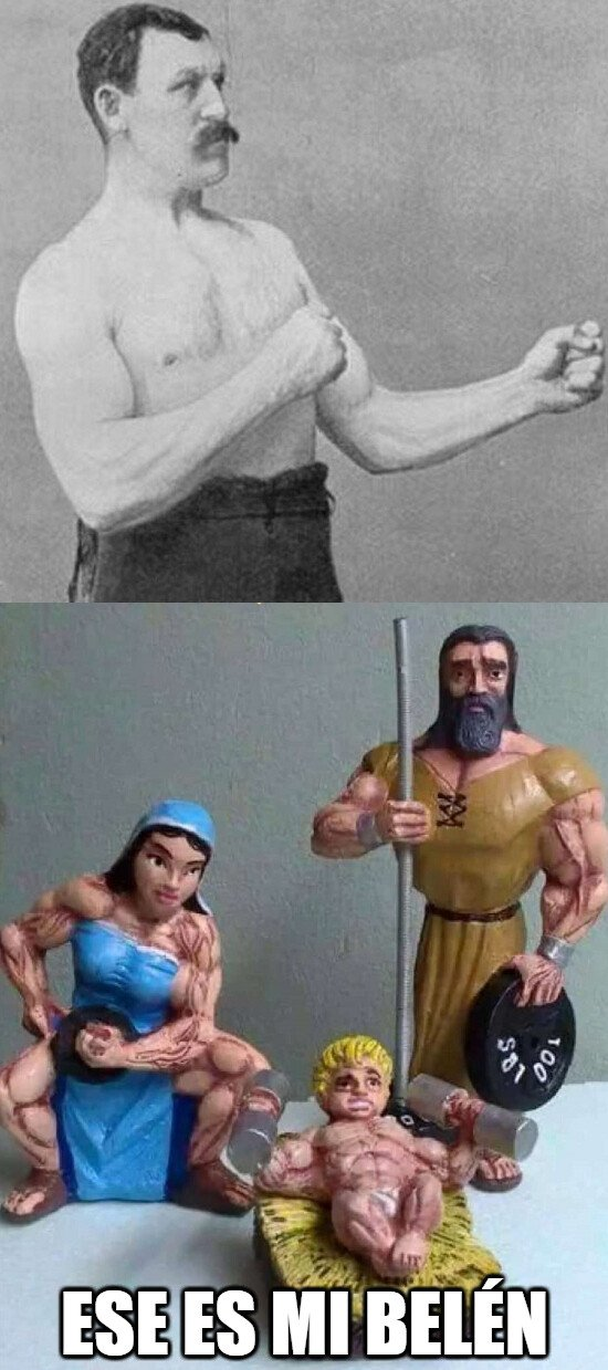 Overly_manly_man - No podía tener otro Belén Overly Manly Man...