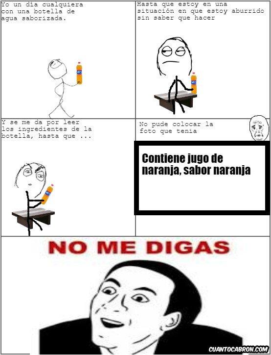 No_me_digas - Botella de agua saborizada