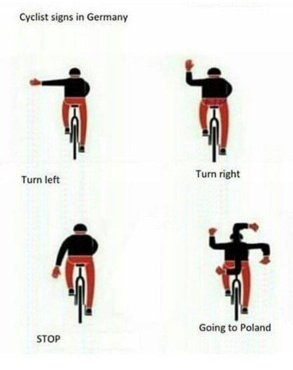 Otros - Los gestos de los ciclistas alemanes