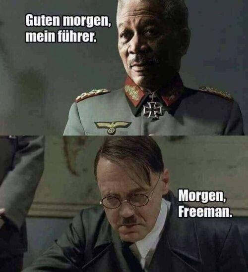 Meme_otros - Si Hitler y Morgan Freeman hubieran coincidido...
