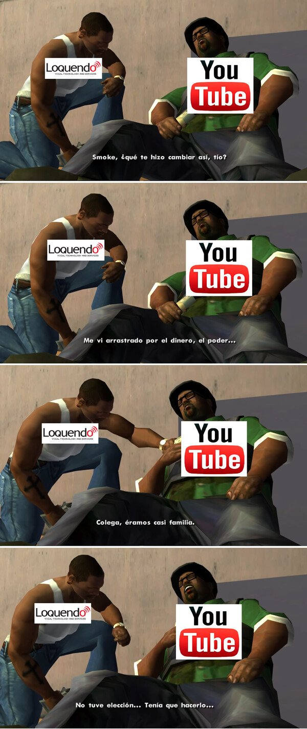Mix - Cuando descubres que loquendo ya no es bienvenido en youtube