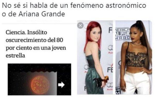 Ariana Grande,estrella,oscurecimiento