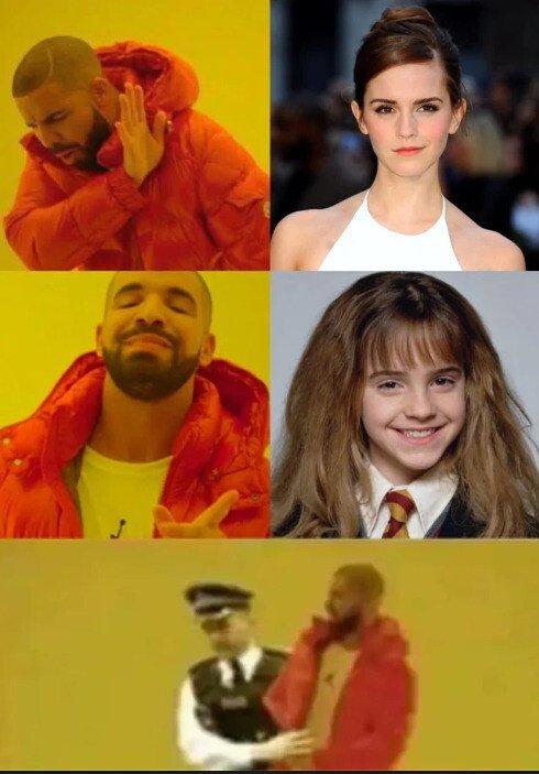 Drake,Emma Watson,Harry Potter,niña