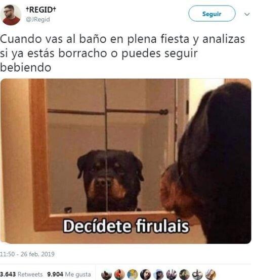 Meme_otros - Decídete, Firulais