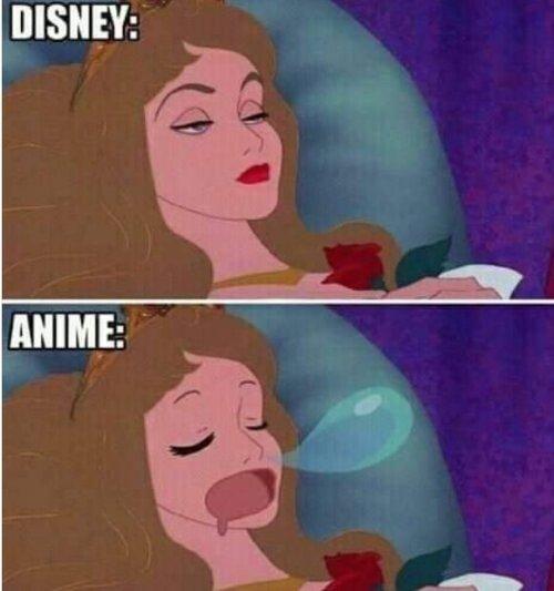 Meme_otros - La gran diferencia entre Disney y el Anime