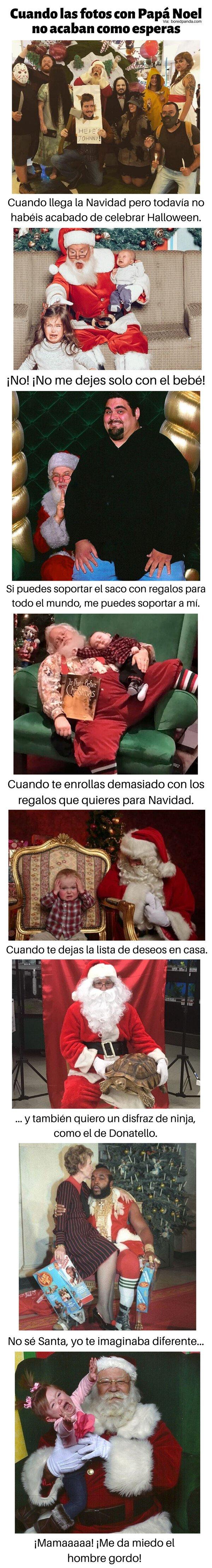 Meme_otros - Cuando las fotos con Papá Noel no salen como esperas